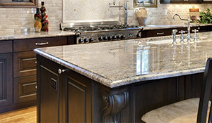 Granite countertops for kitchen & bath available at Flagship Floors in League City.
